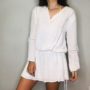 Melrose & Market White dropwaist peasant dress